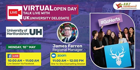 Virtual Open Day of University of Hertfordshire tickets