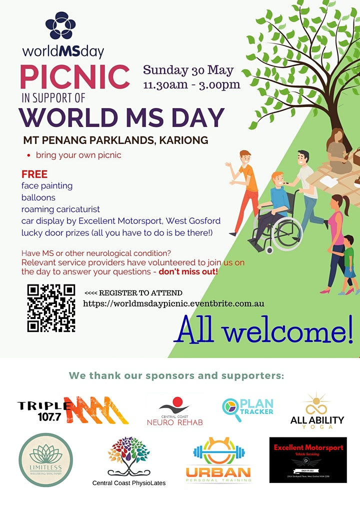 World MS Day - Central Coast community picnic lunch (byo picnic) image