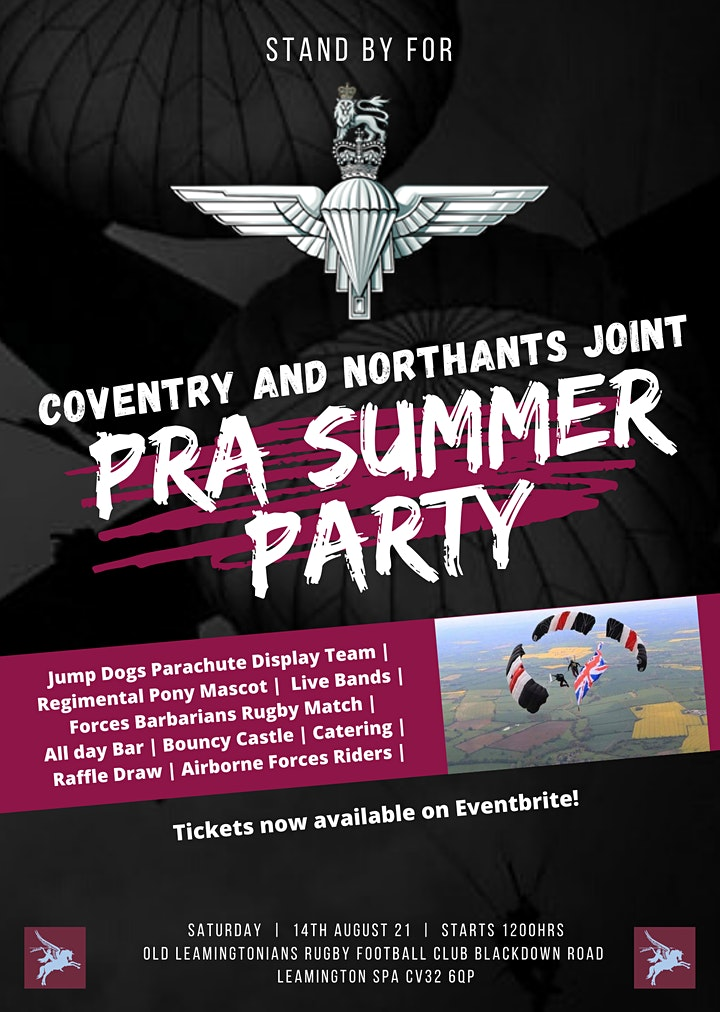 Coventry and Northants Joint PRA Summer Party image