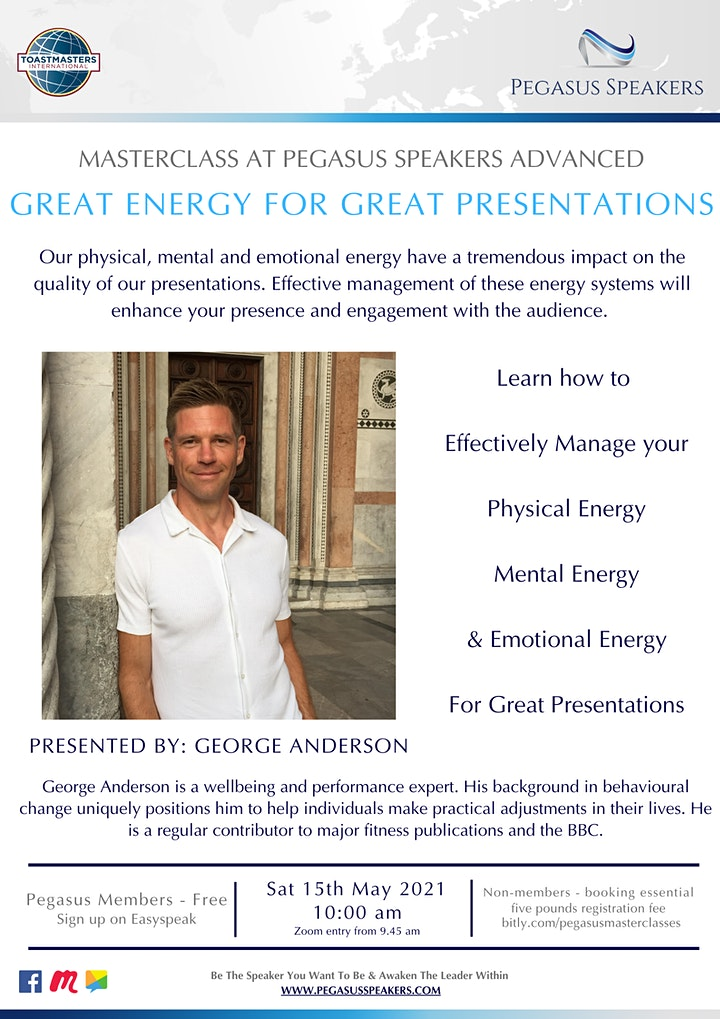 Masterclass - Great Energy for Great Presentations image