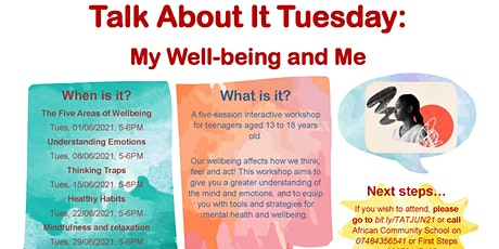Talk About It Tuesday: My Well-being and Me tickets