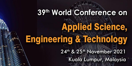39th World Conference on Applied Science, Engineering & Technology tickets