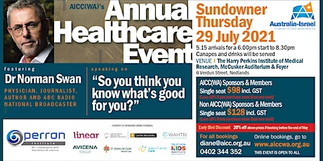 29 JULY 2021 -  AICC(WA) Annual Healthcare Event featuring Dr Norman Swan - tickets