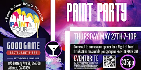 Paint Party & Game Night at GOODGAME tickets