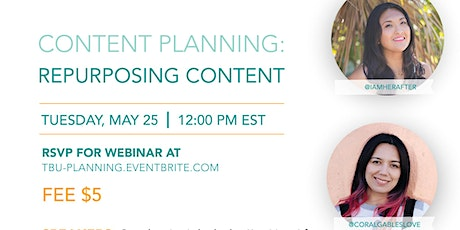 Content Planning: Repurposing Content June Strategy tickets