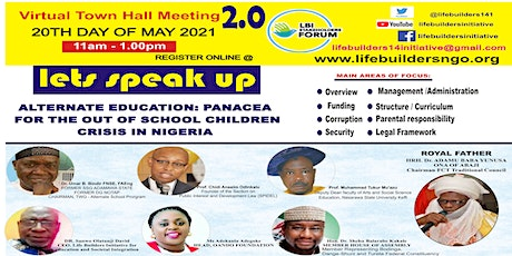 ALTERNATE EDUCATION: Panacea forTackling  Out-of-School Children Crisis 2.0 tickets
