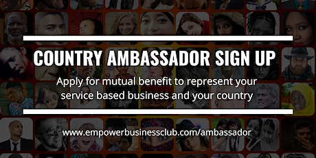 Country Ambassador Virtual Networking tickets