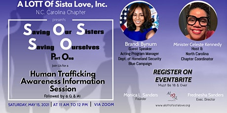 Saving Our Sisters Saving Ourselves: Human Trafficking Information Session tickets