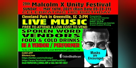 Malcolm X Fest 2021 Greenville, SC tickets