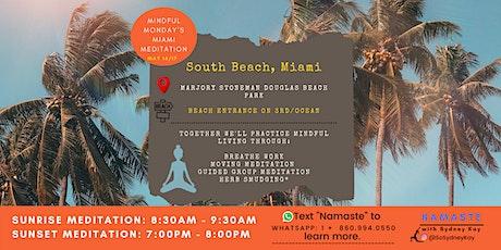Morning & Sunset Meditation in Miami   Namaste with Sydney Kay   tickets