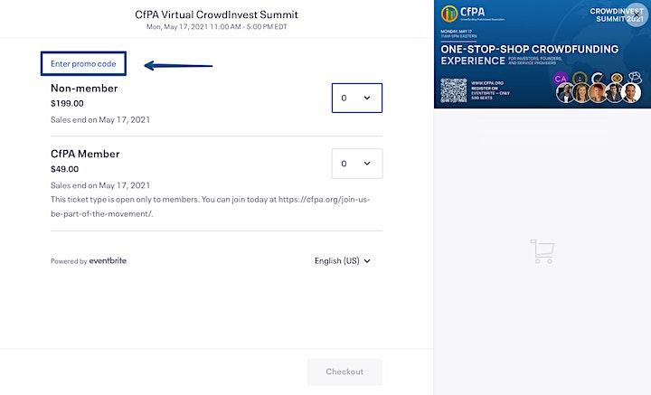 CfPA Virtual CrowdInvest Summit image