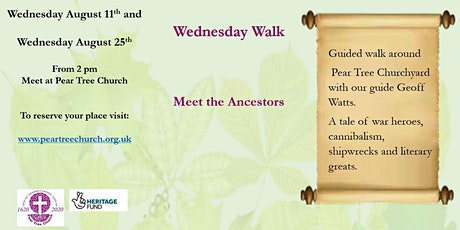 Meet the Ancestors - a guided walk of Pear Tree Churchyard tickets