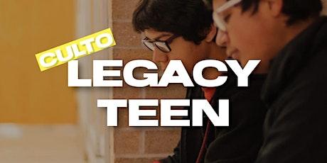 Cópia de Culto Legacy Teen - 17:00hs ingressos