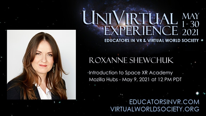 UniVirtual2021 Meet & Greet - Introduction to Space XR Academy image