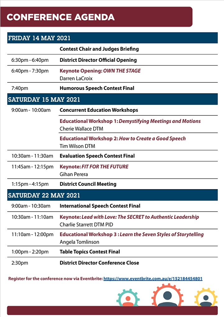 District 17 Virtual Annual Conference - 14th, 15th and 22nd of May Via Zoom image