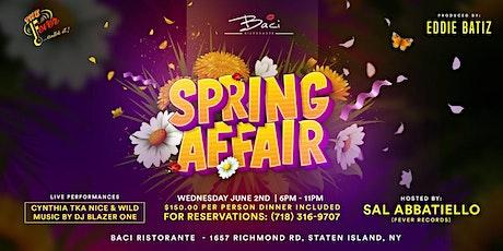 A  Spring Affair @ BACI Restaurant Dinner & Live Performances tickets
