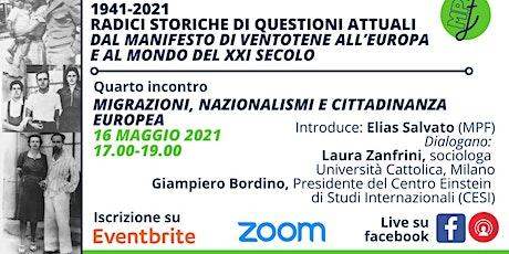 Migrazioni, nazionalismi e cittadinanza europea biglietti