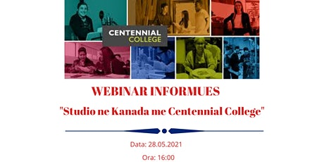 Studio ne Kanada me Centennial College! 14 Maj, ora 16:00 biglietti