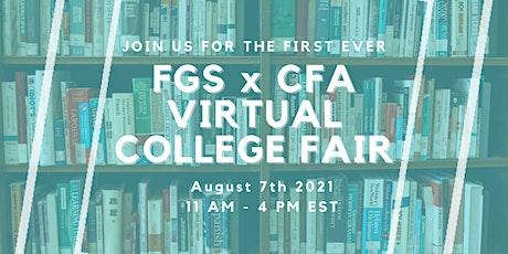 FGS x CFA Virtual College Fair tickets