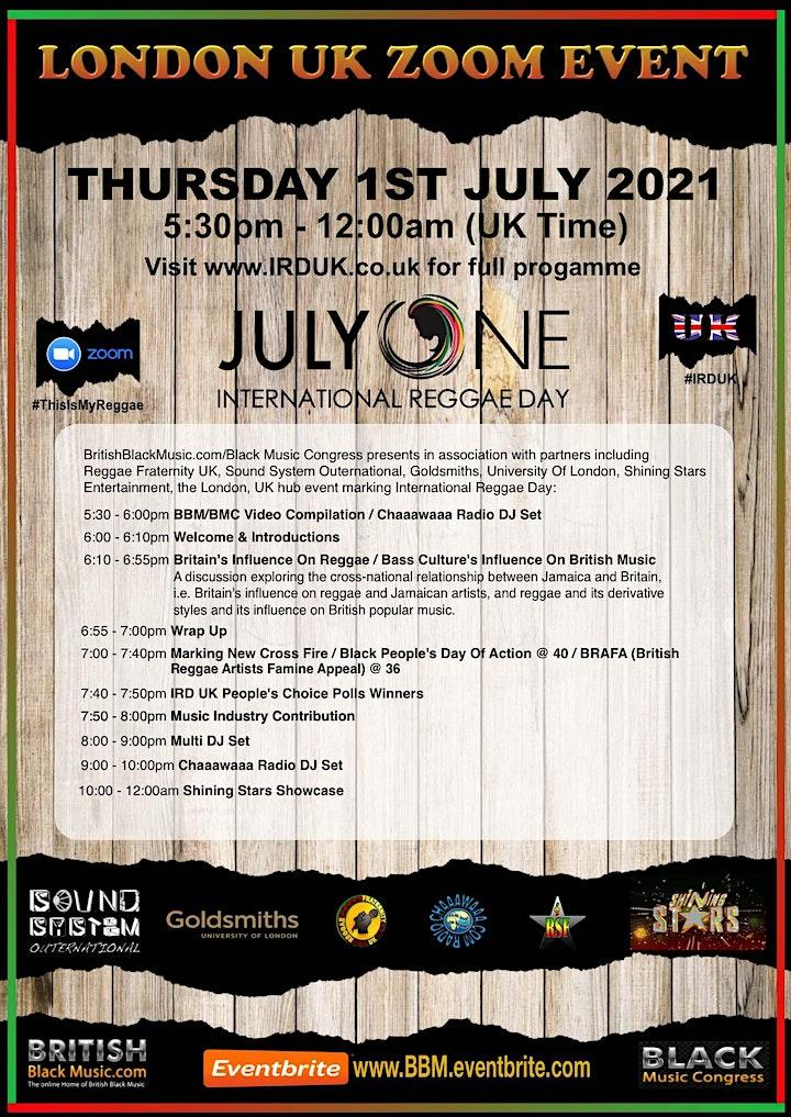 IRD UK - International Reggae Day London, UK 2021 image