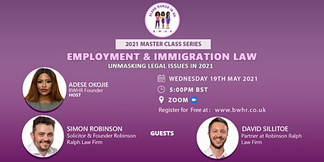 Employment & Immigration Law Updates – Unmasking Legal Issues in 2021 tickets