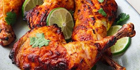 Live Online cookery class: Steamed tandoori chicken, pilau and raita tickets