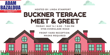 Buckner Terrace Meet & Greet with Adam Bazaldua tickets