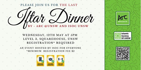 Iftar Dinner at ISOC by ARC & ISOC UNSW  - 12th Ma tickets