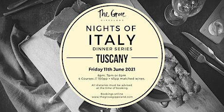 Nights of Italy Dinner Series: Tuscany tickets