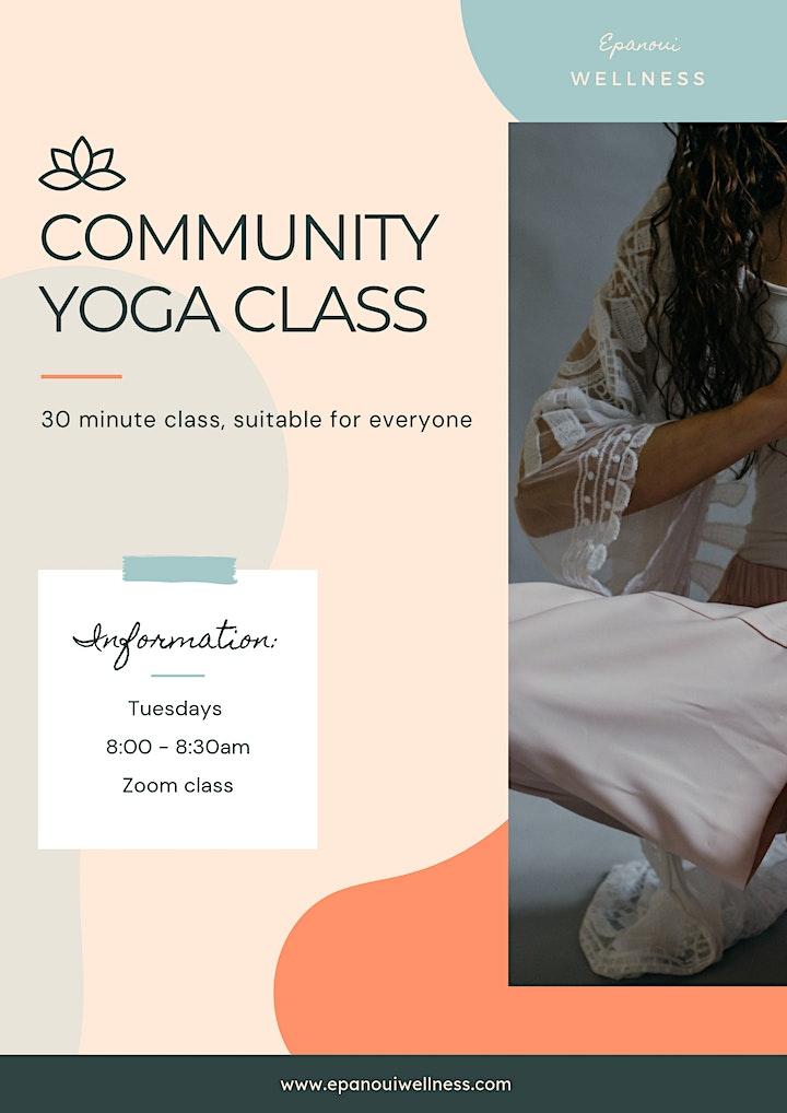 Community yoga class - all levels via zoom 2