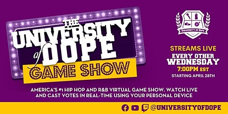 The University of Dope Game Show Season 2 tickets