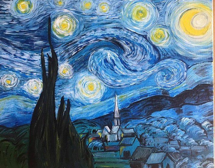Chill & Paint Friday Night  Auckland - Van Gogh Starry Night - SOLD OUT! image
