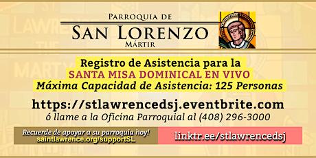 DOMINGO, 16 de Mayo 2021 @ 12:30 PM Registración para la Misa  EN VIVO boletos