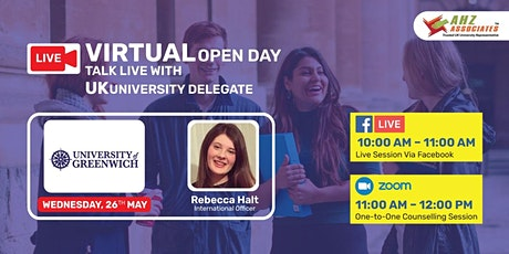 Virtual Open Day of University of Greenwich biglietti