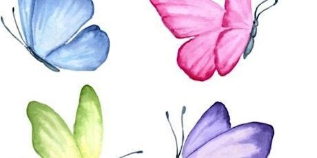 Laboratorio con lana cardata: le farfalle biglietti