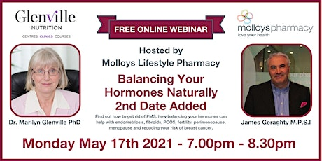 Balancing Your Hormones Naturally - New Date Added tickets