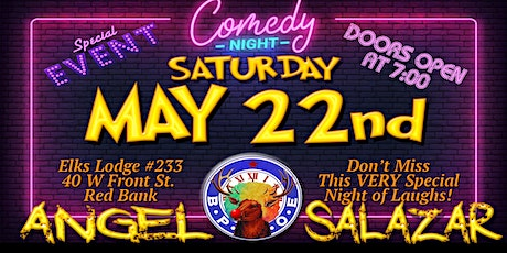 COMEDY NIGHT MAY 22nd with ANGEL SALAZAR, CHRIS COVERT & BRIAN O'HALLORAN tickets