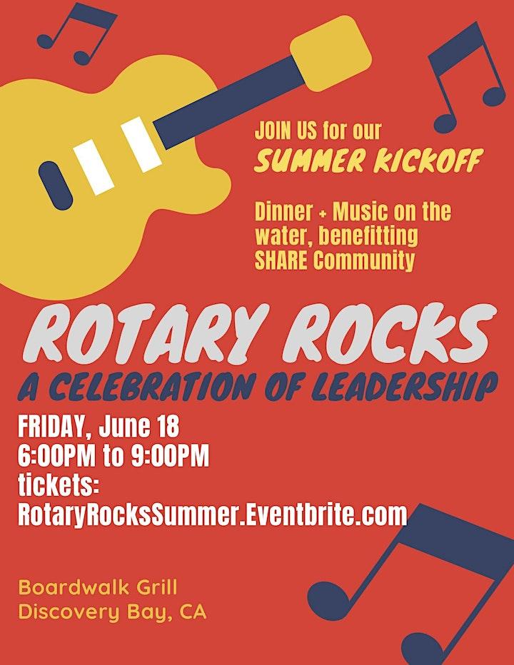 Rotary Rocks Summer Kickoff image