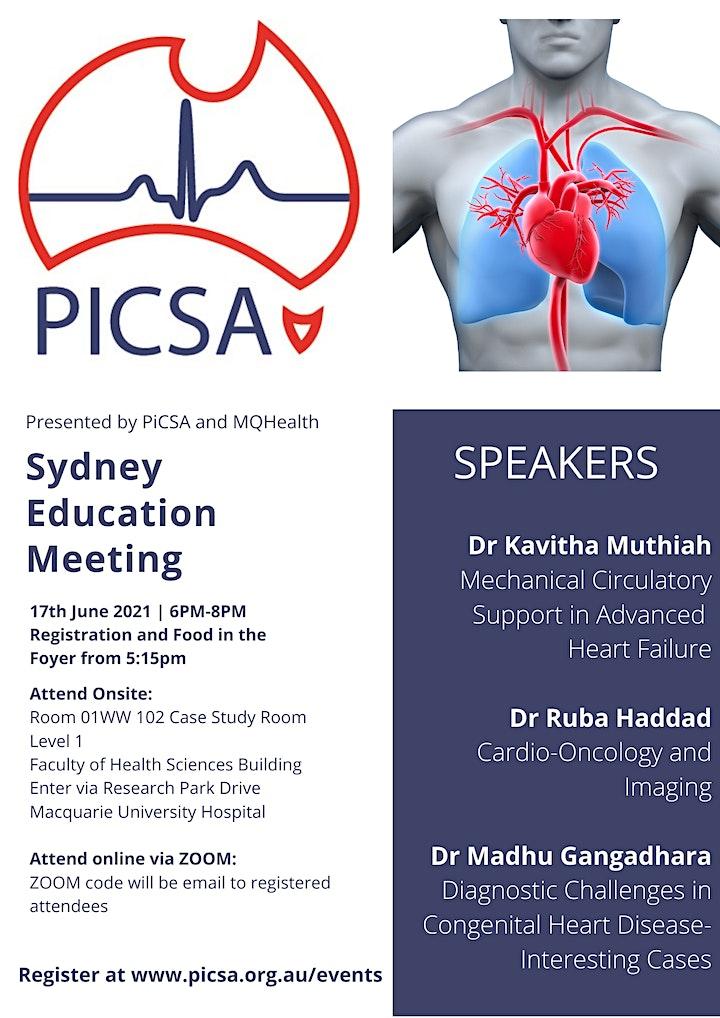 PiCSA Education Meeting- Macquarie University Hospital and Online Via ZOOM image