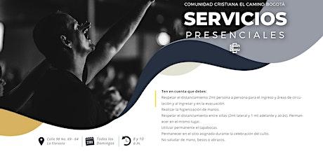 Servicio Presencial - Domingo 16 de mayo, 8: 00 y 10:00 a.m. boletos
