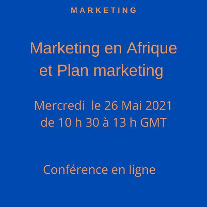 Image pour Marketing en Afrique et plan marketing -Conférence en ligne