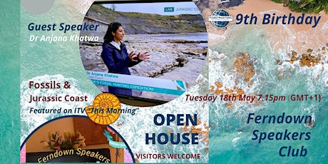 OPEN HOUSE -Visitors  WELCOME  9th BIRTHDAY Speech Tips,Frolics with Topics tickets