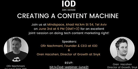 Creating a Content Machine tickets
