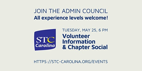 Volunteer Information and Chapter Social tickets