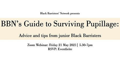 BBN's Guide To Surviving Pupillage tickets