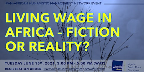 Living Wage in Africa - Fiction or Reality tickets