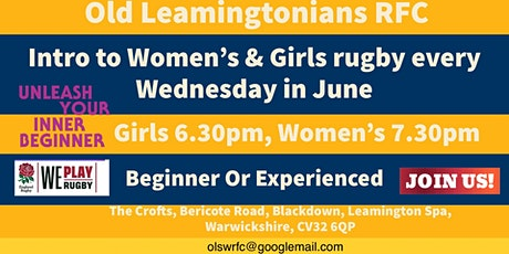 Play Women's Rugby - Intro To Women's Rugby Every Wednesday In June. tickets