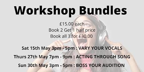 Online Singing Workshop Bundles tickets