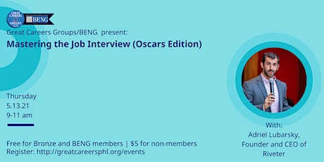 Mastering the Job Interview (Oscars Edition) with Adriel Lubarsky tickets
