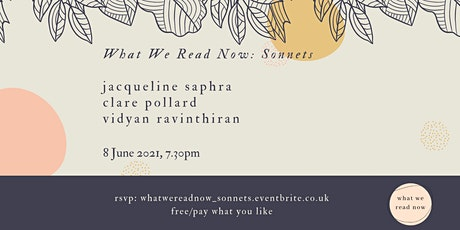What we read now reading - sonnets tickets